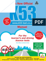 The New Official K53 Manual - For the Learner's and Driving Licence Tests (Extract)