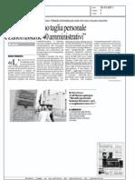 """19.10.11la Repubblica:""""Sanità:Monferino taglia personale e Zanon assume 40 amministrativi"""