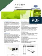 Datasheet Flatpack2 48 2000
