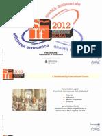 SIF 2012 Presentazione del 27/05/2012