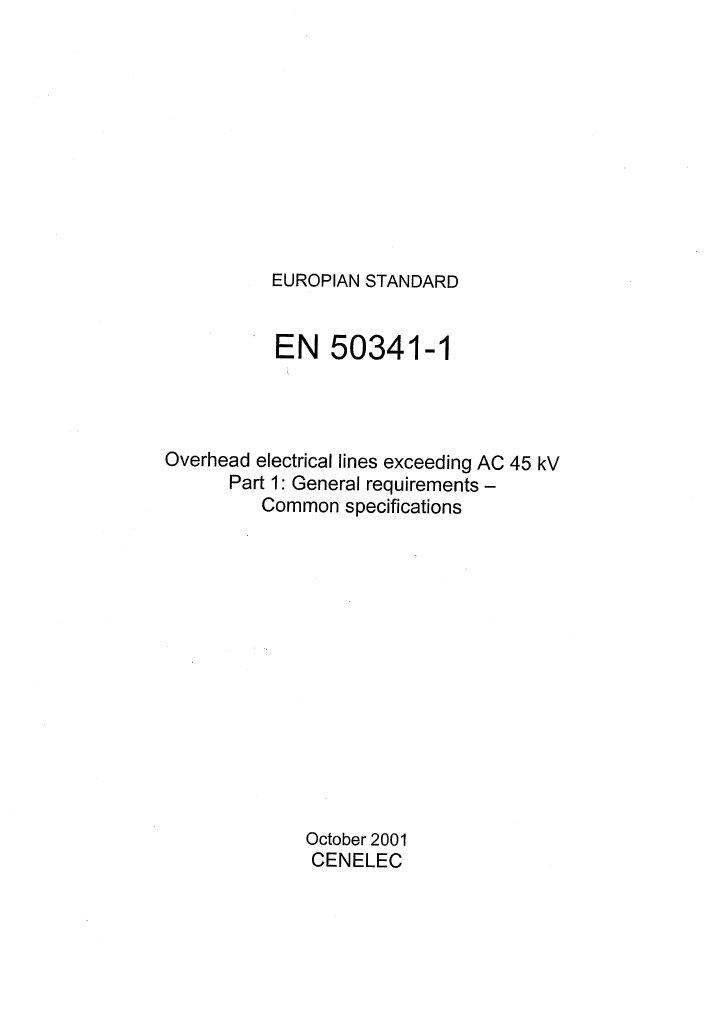 En 50341 1 Ohtls General Requirements