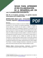 BOSSOLASCO María Luisa-Competencias para aprender y enseñar en colabororación.Capacidad a desarrollar en la formación docentente