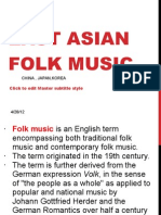 East Asian Folk Music 2nd Gp