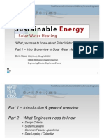 Sustainable Energy - Solar Water Heating