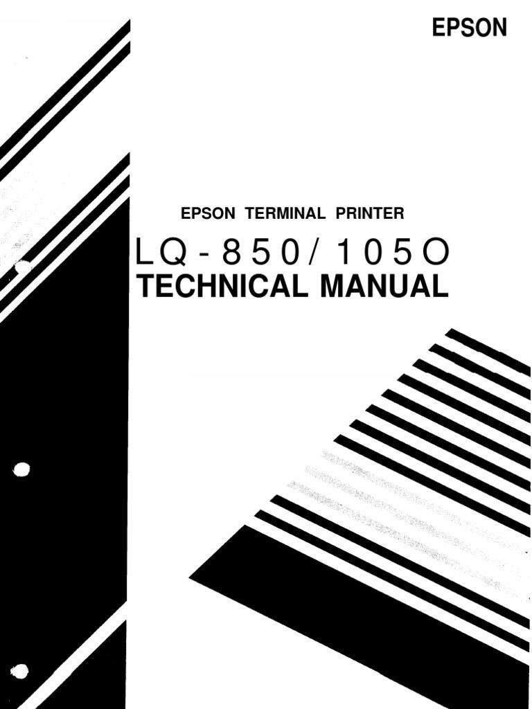 epson lq 850 lq 1050 terminal printer service repair manual
