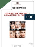 Etude de marché Sephora