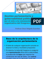 CDG - Gestión parlamentaria y gobernabilidad política