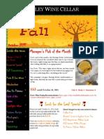 Cellar Notes - October 2011 (Print)