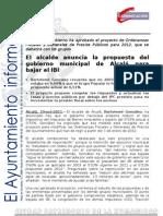 ALCALDE HACIENDA Ordenanzas Fiscales2012