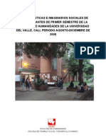 CARACTERÍSTICAS E IMAGINARIOS SOCIALES ESTUDIANTES -UNIVALLE