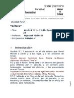 Shemini 5768