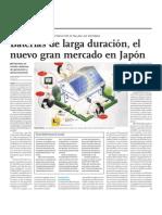 Baterías de larga duración, el nuevo gran mercado en Japón