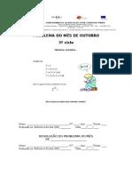 PROBLEMA DO MÊS DE OUTUBRO BE_3ºCICLO