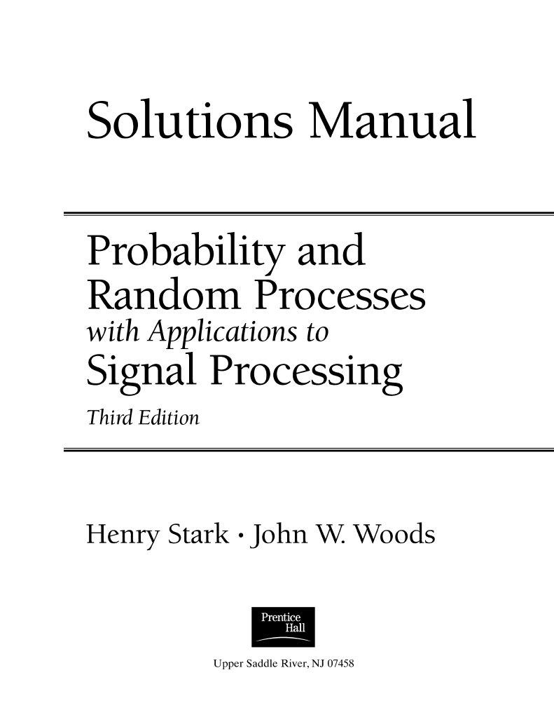 probability randomprocesseswithapplicationstosignalprocessing3estark rh scribd com Accounting Information Systems Math Statistics