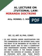 Miranda Doctrines