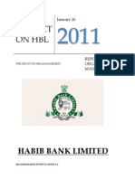HBL Management Project Report
