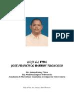 José Barros Troncoso Hoja de vida 19-10-2011
