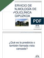 Presbicia. Ponencia del Dr Enrique Aramendia