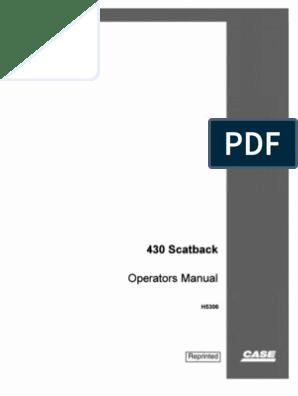 davis 430 scatback ops manual davis 430 scatback ops manual