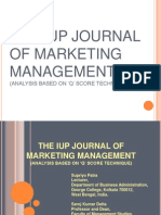 The Iup Journal of Marketing Managemen-ppt