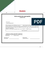 Formulário de Aviso Prévio - Quando o funcionério e colocado para fora da empresa