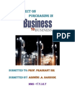 Purchasing in Business to Business