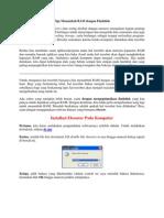 Tips Menambah RAM Dengan Flashdisk