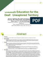 Diabetes Education for the Deaf