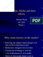 Week 1 McLuhan Media and Their Effects