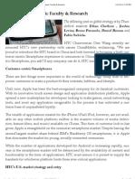 Tun Der Bird - A Customer-centric Strategy for HTC