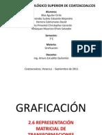 2.6 Representación Matricial de Transformaciones Tridimensionales