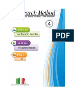 lecture 4, Research Design, (script)