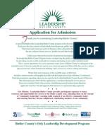 2012 Leadership Butler County Application