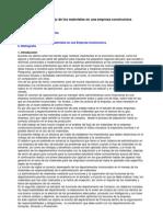 análisis del flujo de los materiales en una empresa constr