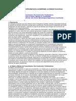 el estatuto de cientificidad de la contabilidad