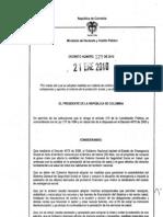 Decreto 129 de 2010 - Control a Evasion y Elusion en Salud