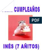 Cartel hamster 7º cumpleaños (10-02-2011)