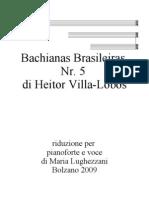 Bachianas Brasileiras No.5 (Aria) Cantilena Piano-Voice (Heitor Villalobos)
