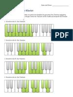 Dur-Tonleitern am Klavier Lösung