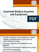 Essential Medical Supplies and Equipments