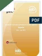 Estudio de inversión públicitaria en medios digitales España (pwc iab) - OCT11