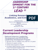 LEADERSHIP DEVELOPMENT FOR THE 21st CENTURY