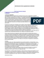 reformas y administración de las organizaciones sindicales