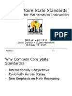 CCSS and Implication for Instruction October 10 3pm ES & MS