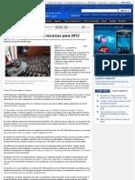 19-10-11 Diputados Quieren Mas Recursos Para El 2012