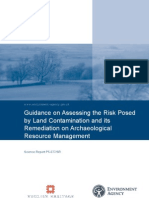 Full Guidance on Assessing the Risk Posed by Land Contamination and Its Remediation on Archaeological Resource Management