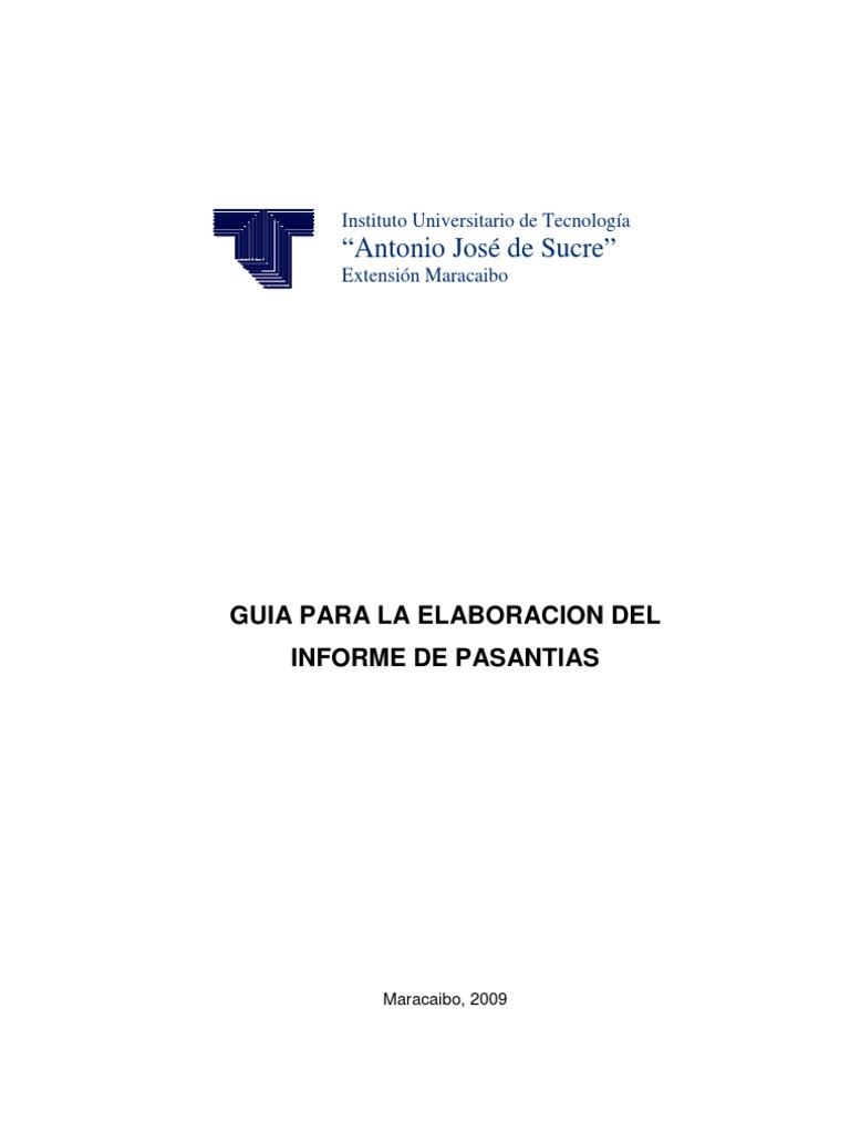 Guia Para La Elaboracion Del Informe de Pasantias