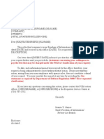 DTRA FOIA Administrative Close Letter