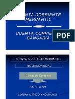 Cuenta Corriente Mercantil y Bancaria
