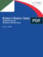 Korea's Energy Insecurities